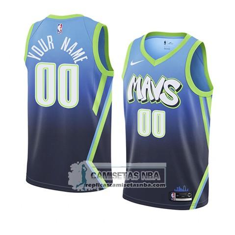 Camisetas NBA Dallas Mavericks Personalizada Ciudad Edition 2019-20 Azul replicas tienda online