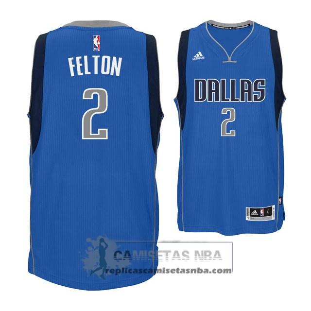 Camisetas NBA Mavericks Felton Azul replicas tienda online