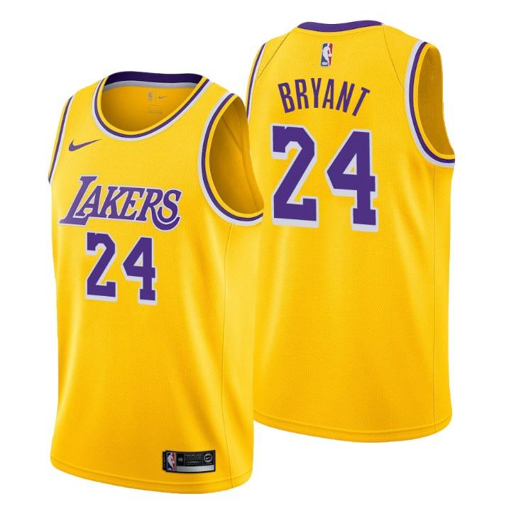 Camisetas NBA Lakers Kobe Bryant Icon 2018-19 Amarillo replicas tienda online