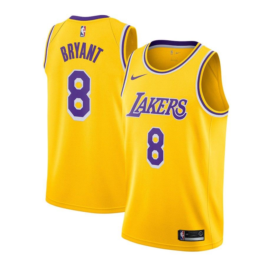 d25f5903e Camisetas NBA Lakers Kobe Bryant Nike Icon 2018-19 Amarillo replicas ...
