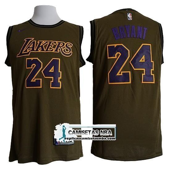cc10b27e8 Camisetas NBA Lakers Kobe Bryant Nike Verde replicas tienda online
