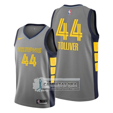 Camisetas NBA Memphis Grizzlies Anthony Tolliver Ciudad 2020 Gris replicas tienda online